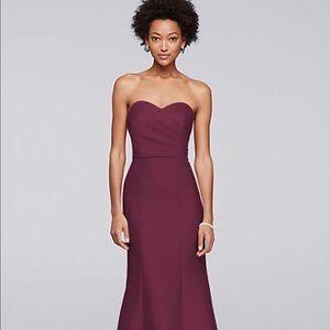 7c9fd1e2cf72 David's Bridal Dresses - David's Bridal Wine Color Bridesmaid Dress Size 12
